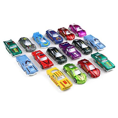 Modellautos Set Kinder Spielzeugauto 1:64 Fahrzeugmodell Kleines Metall Rennauto Spielset ab 3 jahren ,16 pcs