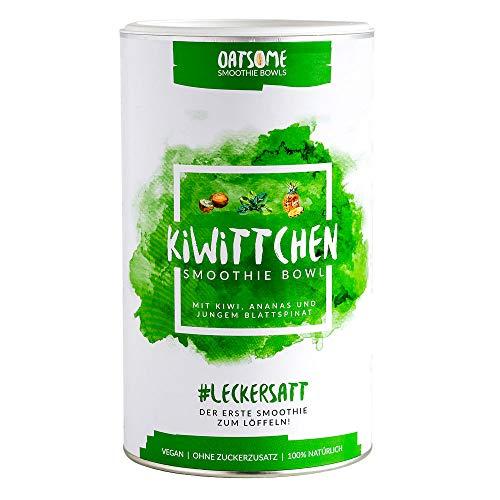 Kiwittchen Smoothie Bowl - Das Nährstoff Frühstück mit 100% natürlichen Zutaten wie Kiwi, Ananas und Spinat - Lange satt mit nur 200 kcal - ohne Zucker & Zusatzstoffe - 400g