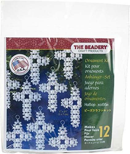 ent Kit-Pearl Cross Makes 12 (Beaded Christmas Ornament-kits)