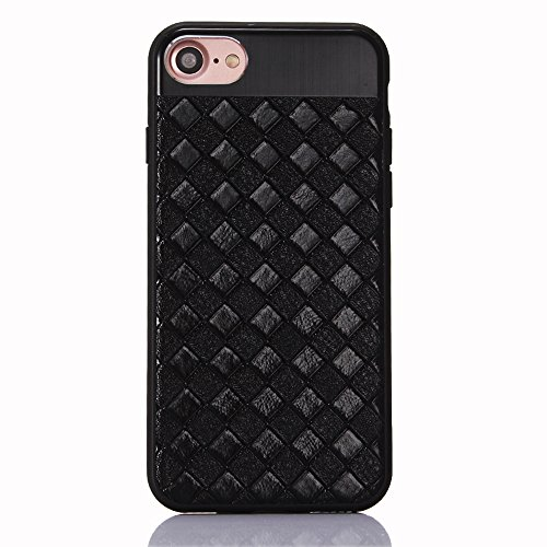 """Coque pour Apple iPhone 6/6s 4.7"""", CLTPY Placcatura Housse dans Doux Dual Layer Silicone Plastic Etui Protection Case Coquille pour iPhone 6,iPhone 6s + 1x Stylet - Or Noir"""
