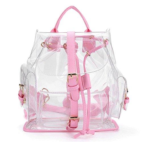 Clear backpack – Vovotrade®Plastique Transparent de la Femme Voir à Travers la Sécurité Transparent Sac à dos Sac de Voyage