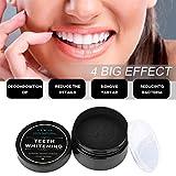 Wotek Natürliches Aktivkohle Zahnaufhellung Pulver zur Zahnaufhellung & Zahnreinigung Powder White Teeth Zahnpasta Organische natürliche weiße zähne Bambus aktivkohle Aktivierte Holzkohle (60g) -
