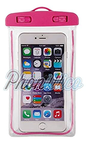 Phonillico® Sac Waterproof Rose pour Apple iPhone au Choix -