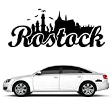 """Wandtattoo Loft Autoaufkleber """"Rostock Skyline"""" mit Schriftzug / 54 Farben zur Auswahl / schwarz / - 3"""