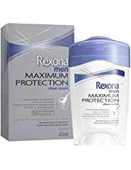 Rexona Men Maximum Protection Clean Scent Anti-Transpirant Deo Cremestick, 1er Pack (1 x 45 ml)