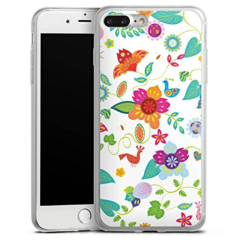 Apple iPhone X Slim Case Silikon Hülle Schutzhülle Bunt Blumen Muster Silikon Slim Case transparent
