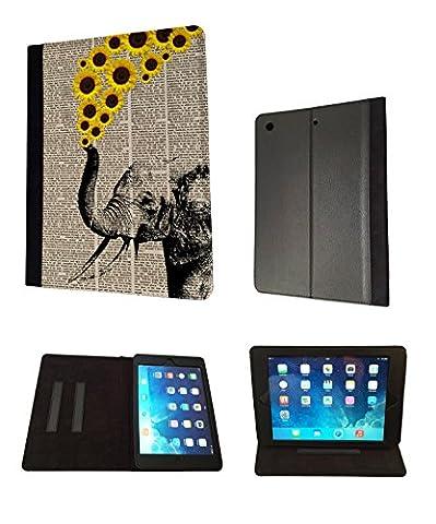 iPad Mini 1 & ipad mini Retina 1 2 3 Aztec elephant Flowers Sunflower trunk Fashion Trend Coque Purse Wallet Pouch portefeuille Poche Coque Case Flip Cover-TPU leather