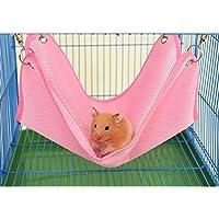 Keersi Hamaca de Malla Transpirable Cool para Colgar Cama Nido casa para Mascotas hámster, Rata Chinchillas Guinea Pig Ardilla pequeño Animal jaulas