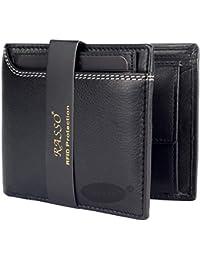 Rasso Genuine Black Men's Leather Wallet