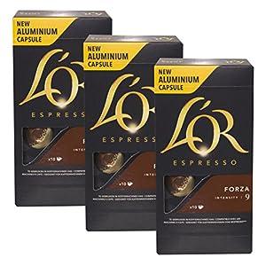 51A-mJPCfOL._SS300_ L'Or - Capsule Caffè Espresso Onyx - Compatibili con Macchine Nespresso - 10 Capsule in Alluminio - Intensità 12