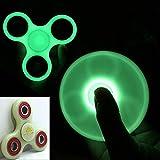 TOPKing Mano Fidget Spinner Fluorescencia DIY Juguete,3-5 Minuto Tiempo de Rotación EDC Plástico y metal Spinner para Jóvenes(Verde)