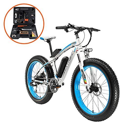 Extrbici XF660 500 W 48 V 10.4 Ah Bicicleta Eléctrica 26 'X4.0 Grasa Bicicleta Cruiser 7 velocidades Shimano derailluer Nieve...
