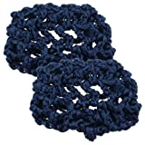 2 Pcs Navy Blue Elastic Band Meshy Net Bun Cover Hairnets for Women