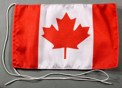 Kanada 15x25 cm Tischflagge in Profi - Qualität Tischfahne Autoflagge Bootsflagge Motorradflagge Mopedflagge