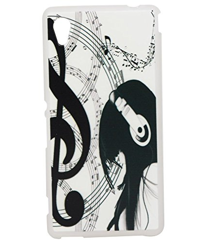 Headphone Girl Soft Silicon Back Case Cover For Sony Xperia M4 Aqua Dual  available at amazon for Rs.189