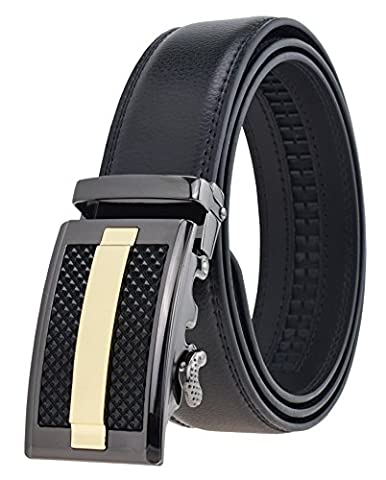 QISHI YUHUA Mens Casual Genuine Leather Belts Automatic Buckle Belt