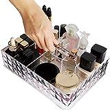 Romote Make-up-Organizer, hochwertiges Acryl Kosmetik-Palette Lippenstift Fall mit großer Kapazität mit Griff