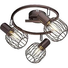 Deckenstrahler 3 Flammig Deckenleuchte Wohnzimmer Lampe Bewegliche Spots Deckenlicht Deckenlampe Wohnzimmerlampe Strahler