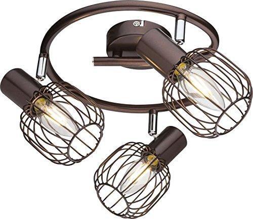 Lámpara de techo 3focos plafón Salón Lámpara focos móviles (Luz Techo, Lámpara...