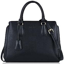 Schwarze Handtasche, COOFIT Damen Handtaschen Gross Lederhandtasche Schultertaschen Henkeltaschen Umhängetaschen Tasche Handtasche Damen Leder Schwarz