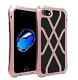 iPhone 7 / 8 Outdoor Hülle,[Solid und Handlich,mit Displayschutz] Alu Rahme Ganzkörper Sturzfest Metall Gehäuse Shockproof Handy Case für iPhone 7 / 8 4,7