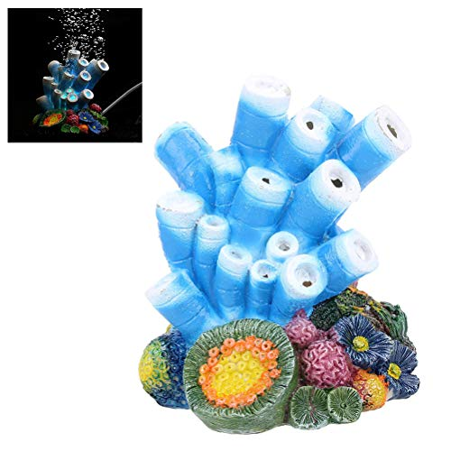 Aquarium Dekoration, Korallen Air Stone Bubble Aquarium Dekor Seestern Rock Ornament Sauerstoffpumpe Bubbler Harz Carfts (Rock Versorgt)