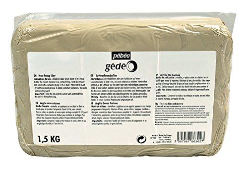 Pebeo 766302 Gedeo Ton ohne Einbrennen, 1, 5 kg Block, weiß