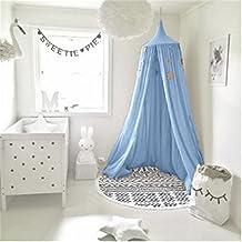 Betthimmel//Moskitonetz rund Doppelbett blau