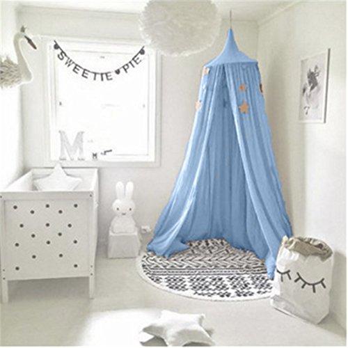 Ultragood baldacchino da letto per bambini, con drappo in cotone, può essere utilizzato come tenda da gioco, come decorazione per la camera da letto o come protezione dagli insetti
