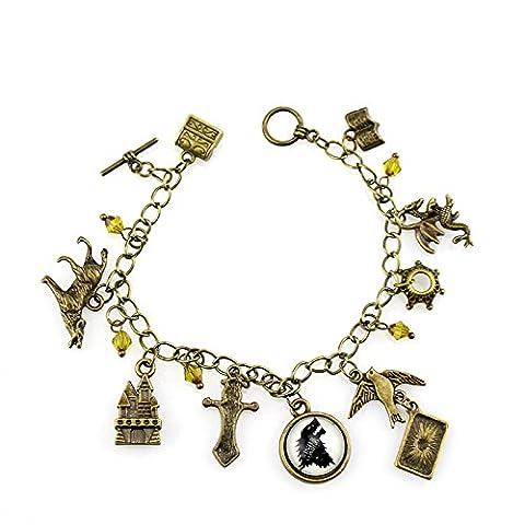SZCSY TV inspiriert Inspiration Charme Armband Tier Totem Bernstein Perlen Armband