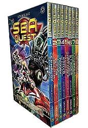 Sea Quest Series 1 and 2 By Adam Blade - 8 Books Collection Set (Mangler The Dark Menace, Crusher The Creeping Terror, Stinger The Sea Phantom, Shredder The Spider Droid, Kraya The Blood Shark, Manak The Silent Predator, Silda Electric Eel, Cephalox Cyber Squid)