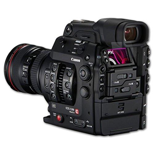 Canon EOS C300 Mark II Glasfolie - atFoliX FX-Hybrid-Glass hartbeschichtete elastische 9H Kunststoffglas Folie - besser als Echtglas Panzerglas