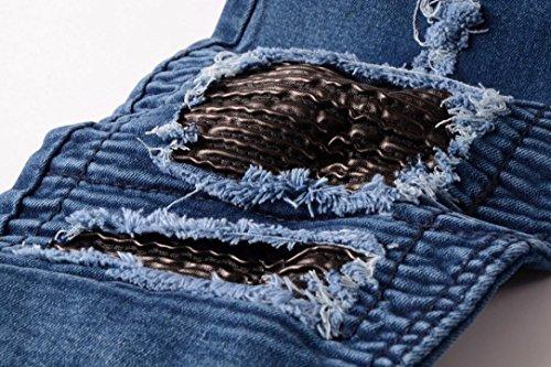 SHOBDW Herren Männer Jeans Jeans Hose Jeanshosen Slim Fit Strech Skinny  Destroyed Löchern Jeans Denim ... 999f0529c4