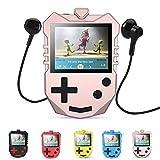 8 GB MP3 Player für Kinder, tragbarer 1,8 TFT Farbbildschirm Musik-Player mit eingebautem Lautsprecher, FM-Radio, Sprachaufnahme, Puzzle-Spiele, unterstüzt bis zu 128 GB, von AGPTEK K1, Rosagold
