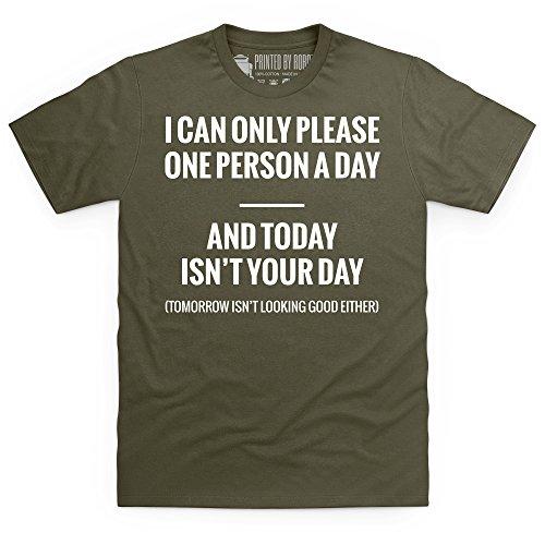 Today Isn't Your Day T-Shirt, Herren Olivgrn