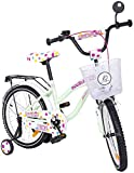 Bubble Kinderfahrrad Bike 20 Zoll mintgrün mit Rücktrittbremse, Korb, Rückspiegel
