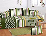 #7: Home Elite Multicolored Cotton Diwan Set ( Pack Of 8 Piece)