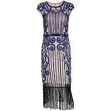 IMAGICSUN Mujer Gatsby Vestido Años 20 Estilo Vestido Cóctel Fiesta Vestir Vestido ...