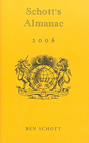 [Schott's Almanac 2006] (By: Ben Schott) [published: November, 2005]