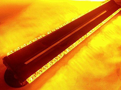 Double Side 180W LED Arbeitsleuchte Bar Alarm Beacon Warnung Strobe Light Amber Alarmer 76,2cm 12/24V (Light Strobe Alarm)