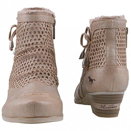 Mustang Damen 1187-514-852 Combat Boots Beige (Taupe 318)