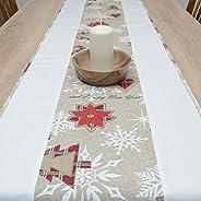 Maravilloso Tapete de Mesa, Merry Christmas, Navidad, HomeAtelier Decoración Textil, el Mejor Regalo para Herm