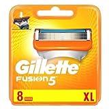 Gillette Fusion Cuchillas de afeitar, 8unidades, 1er Pack (1x 8unidades)