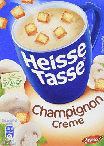 Preisvergleich Produktbild Erasco Heisse Tasse - Champignon-Creme,  3 Beutel,  42 g