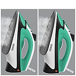 Usha Steam Pro SI 3515 Steam Iron Pacific Green (Combo of 2)