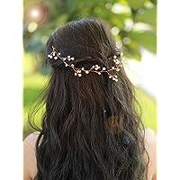 Gracewedding oro rosa cristallo sposa con capelli fiori da sposa capelli  gioielli fascia matrimonio copricapo... di Gracewedding f6b3e0c478ba