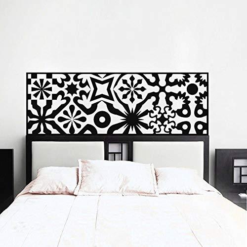 tzxdbh Moderne Bett Kopfteil Dekoration Zubehör Wandtattoo Schlafzimmer PVC Reine Farbe Wandaufkleber adesivo de Parede Home Deco 42x120 cm -
