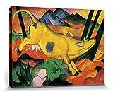 1art1 56763 Franz Marc - Die Gelbe Kuh, 1911 Poster Leinwandbild Auf Keilrahmen 80 x 60 cm