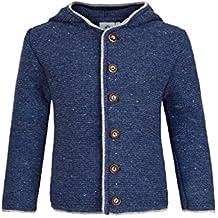 f0b00d4281 Isar-Trachten Jungen Kinder Trachten-Strick-Janker mit Kapuze Jeansblau,  Jeans (