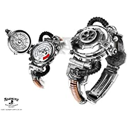 Alchemy Gothic Steampunk Eer Steam Powered Entropy Calibrator Pewter Brass Watch - One Size
